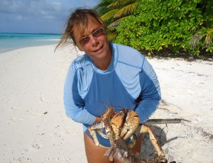 Kokosnusskrabben sind leicht zu fangen