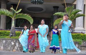 Indische Ladies zum Abschied