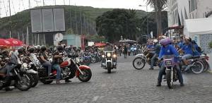 ... und viele Motorräder