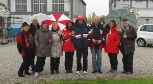 Begrüssungkomitee (Louise, Helmut, Marianne, Krimhild, Gabi, Hans, Karl, Alexander)