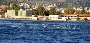 starke Wasserwirbel vor Messina